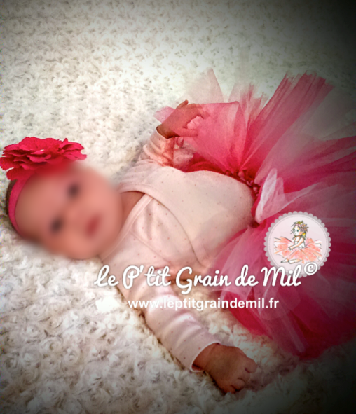 robe tutu bébé fille rose