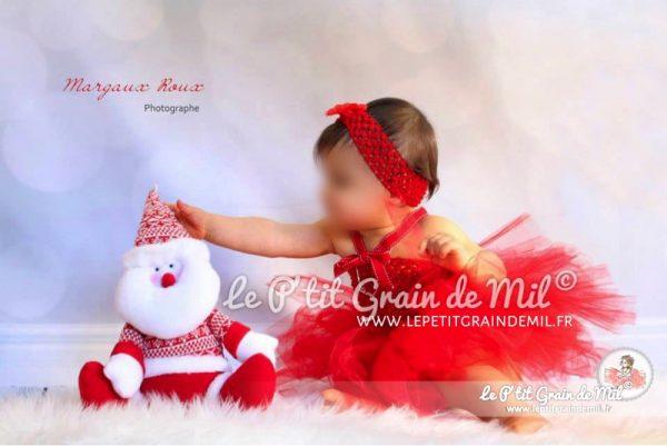 robe tutu rouge bébé mere noel