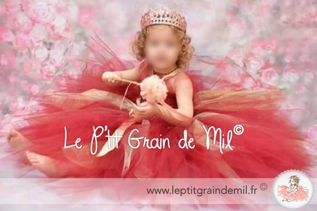 robe tutu de princesse rouge bordeaux et or pour petite fille_files