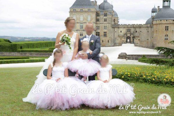 robe tutu demoiselle d'honneur mariage romantique