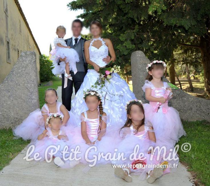 robe tutu demoiselle d'honneur cortege mariage petite fille enfant