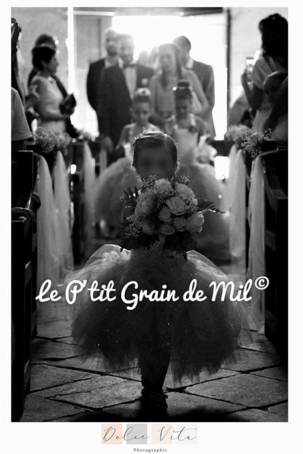 robe tutu demosielle d'honneur enfant mariage cortege