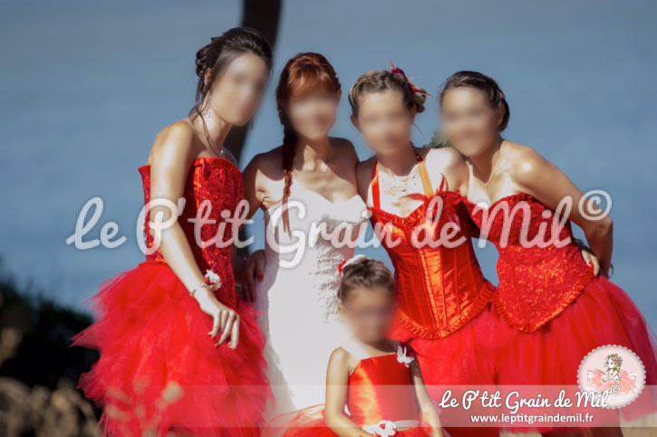 robe tutu femme rouge demoiselle d'honneur mariage