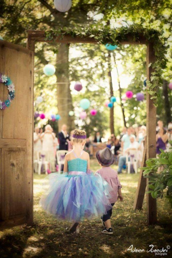 robe tutu demoiselle d'honneur cérémonie mariage bohème