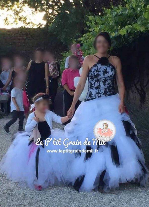 mini robe de mariée assortie à la maman