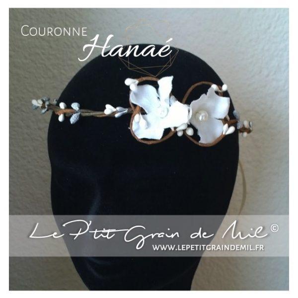 couronne de fleurs florale blanche baptême pour bébé petite fille baptême mariage