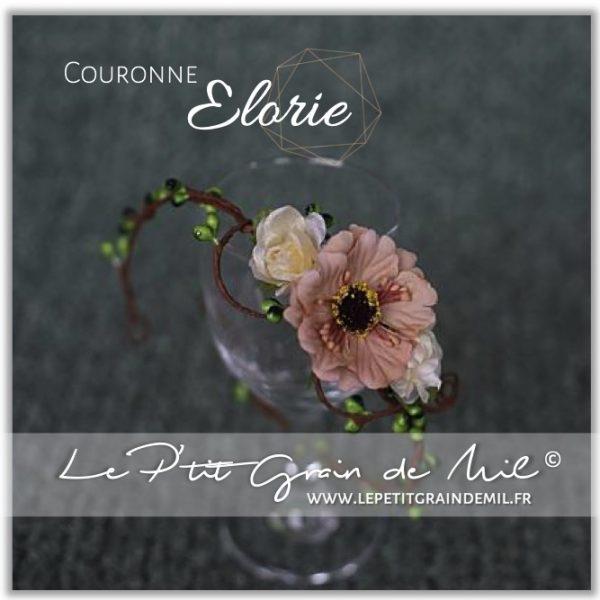 couronne florale champêtre bohème de fleurs bébé newborn petite fille shooting photo mariage bapteme