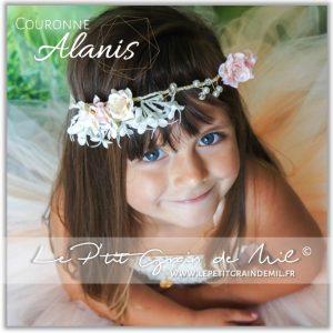 couronne florale de fleurs pour mariage baptême cérémonie bébé fille enfant femme mariée pastel bohème vintage