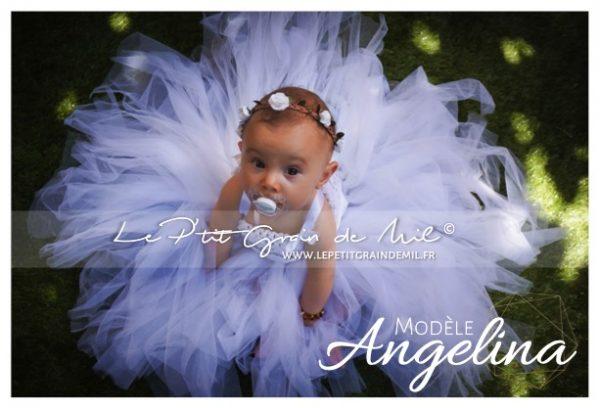 robe tutu de bapteme blanche longue bébé fille