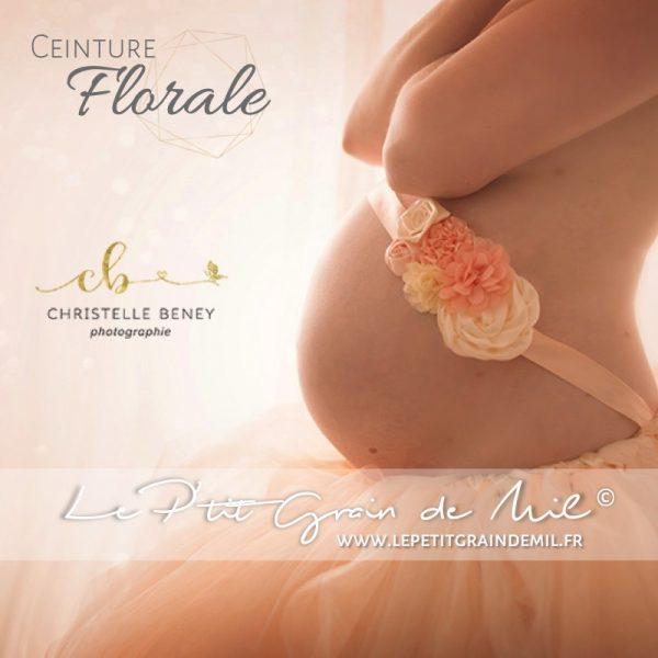 accessoire shooting photo maternité ceinture fleurs grossesse