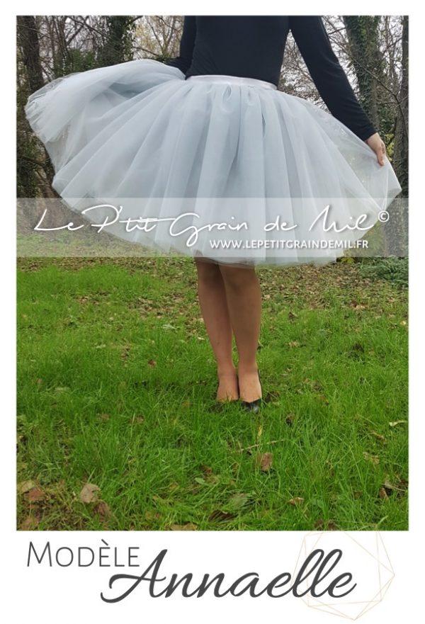jupe courte femme en tulle ultra volume mariage cérémonie