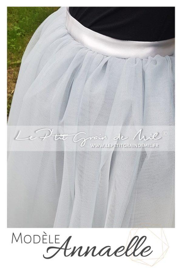 jupe en tulle femme grise mariage