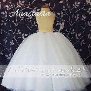 jupe tutu en tulle blanc enfant demoiselle d'honneur mini mariée enfant petite fille