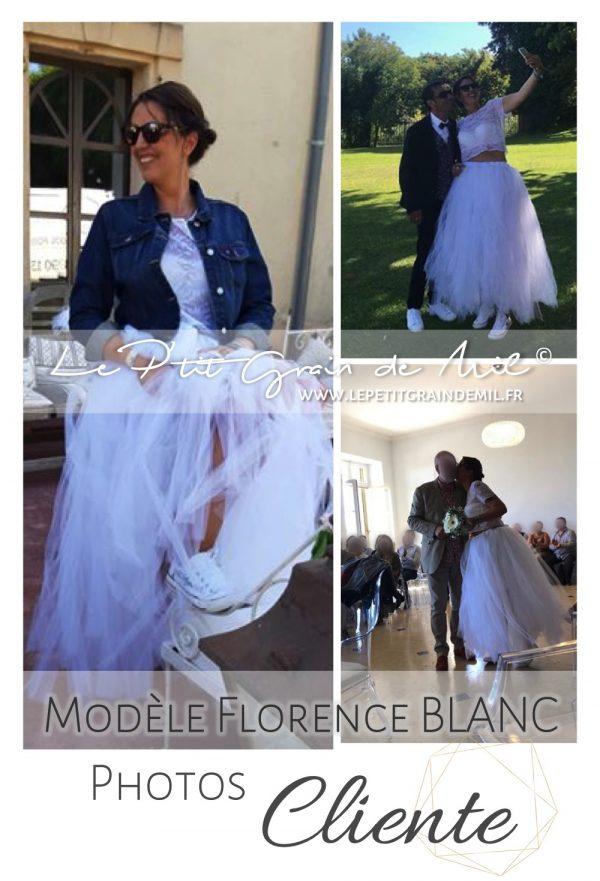 jupe tutu en tulle blanche mariée mariage baskets converses rock
