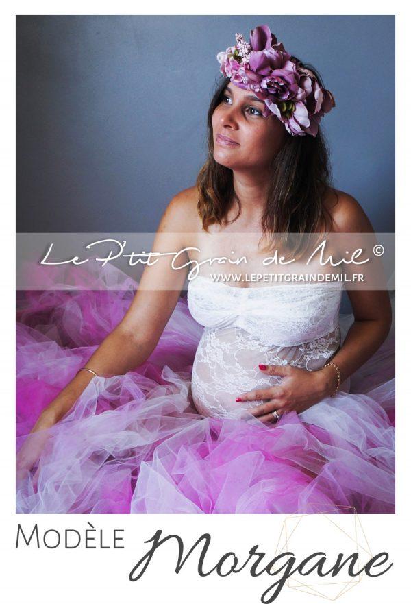 jupon en tulle maternité maxi longueur séance photo photographe princesse