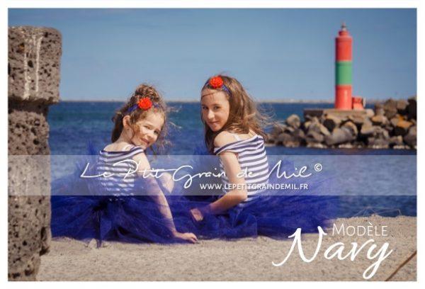 robe à rauyures style marin pour filles bébé mariage