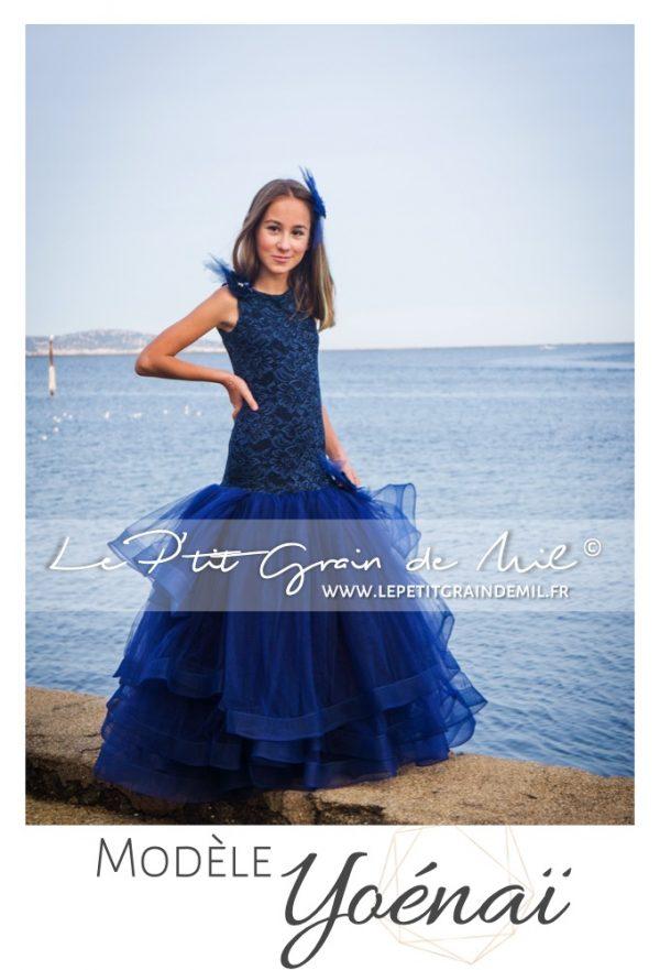 robe de cérémonie forme sirene pour petite fille mariage