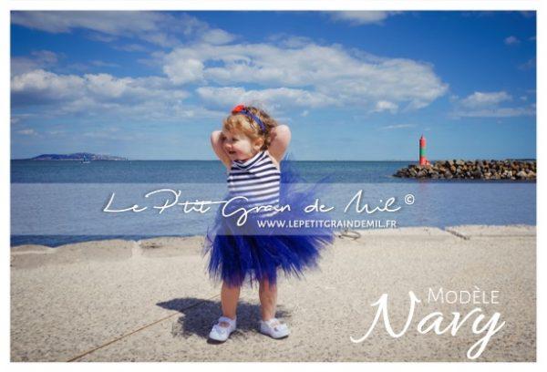 robe mariniere enfant en tulle robe tutu bleu marine mariage