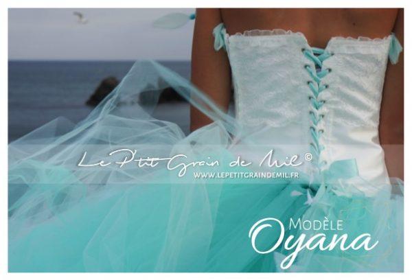 robe tulle vert d'eau tutu de créateur mariage cérémonie