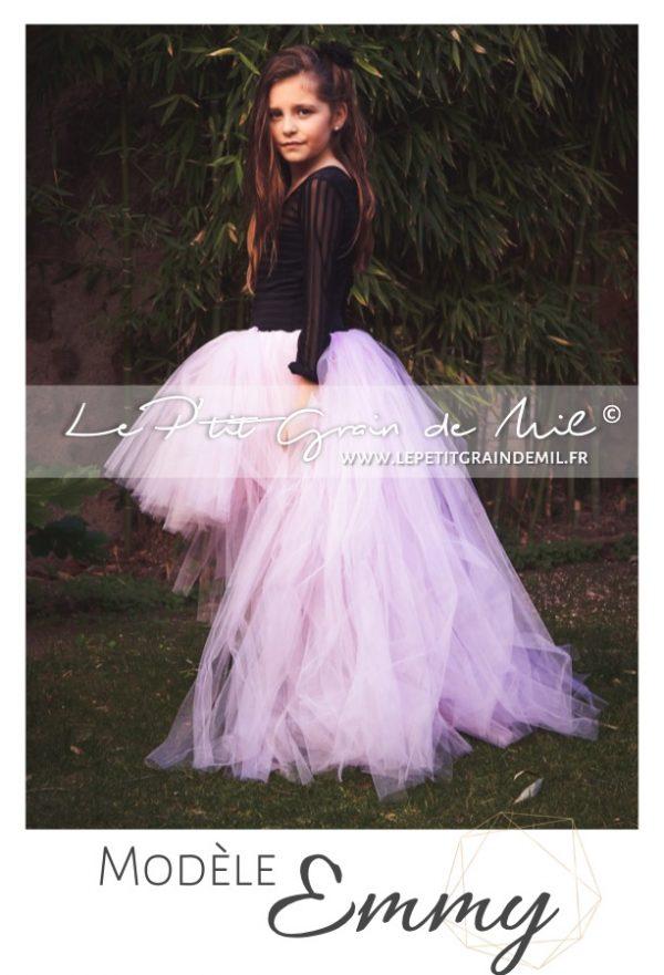 robe tutu enfant demoiselle d'honneur mariage glamour rock and roll tutu steampunk asymétrique
