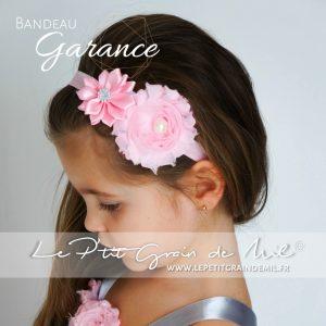 bandeau fleur perle strass bébé fille fillette rose fushia blanc