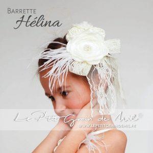bijou accessoire pour cheveux mariage fleur plumes dentelle