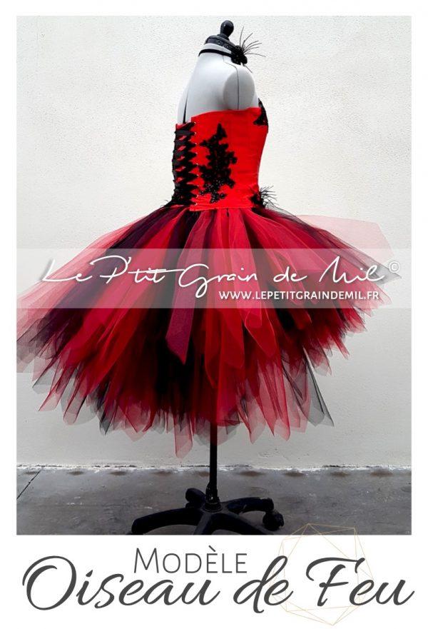 costume déguisement cabaret moulin rouge rouge et noir pour femme