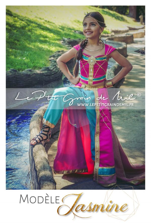 costume déguisement princesse jasmine rose aladdin disney film 2019