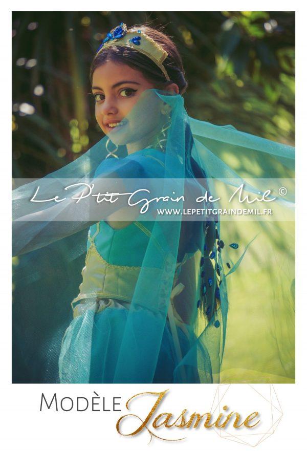 costume de jasmine aladdin film 2019 déguisement enfant femme