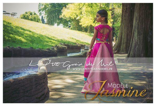 costume rose de jasmine aladdin film 2019 déguisement enfant femme