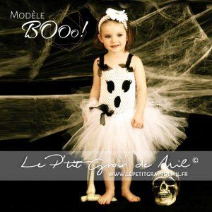 déguisement costume de fantôme bébé fille halloween original robe tutu tulle