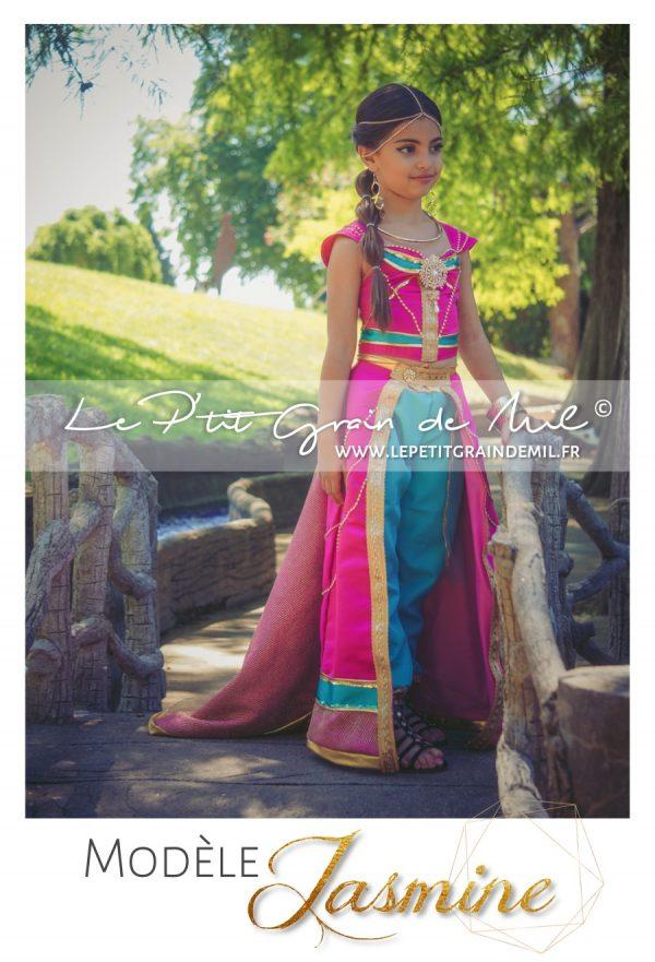 déguisement enfant femme jasmine rose aladdin film 2019