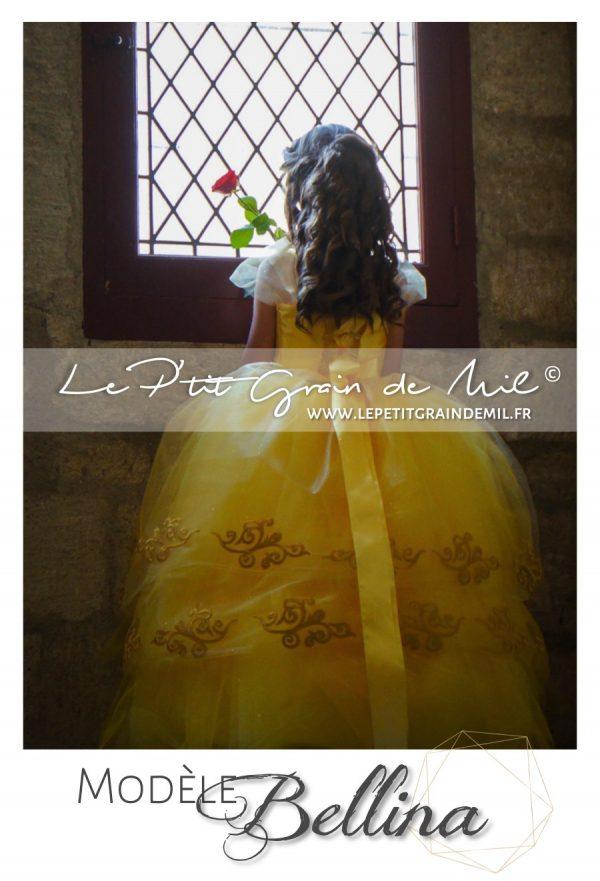 déguisement enfant robe de princesse la belle et la bête film 2017