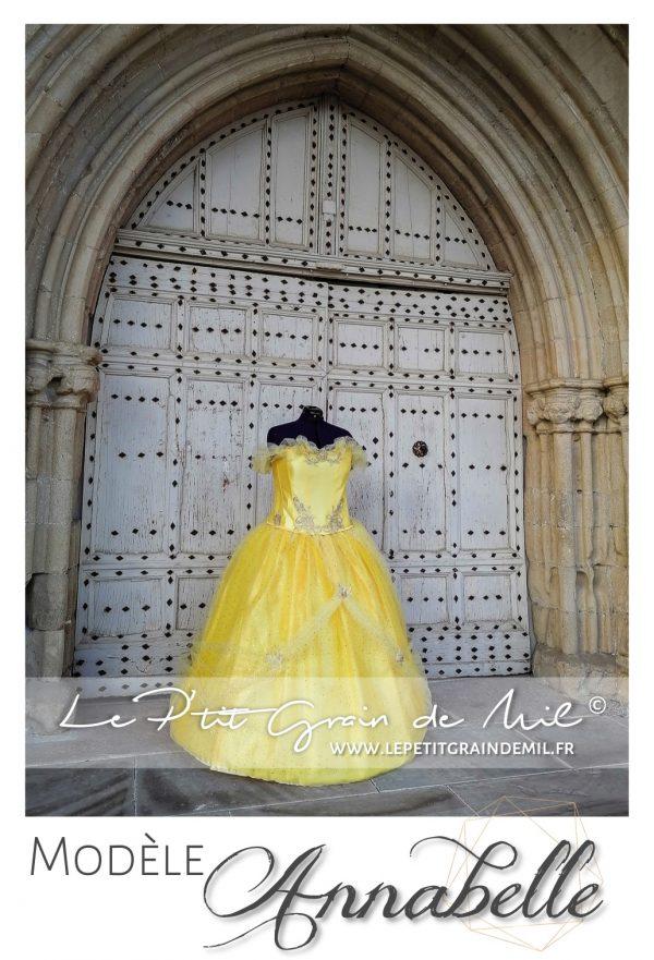déguisement princesse belle disney robe tutu princesse belle et la bete