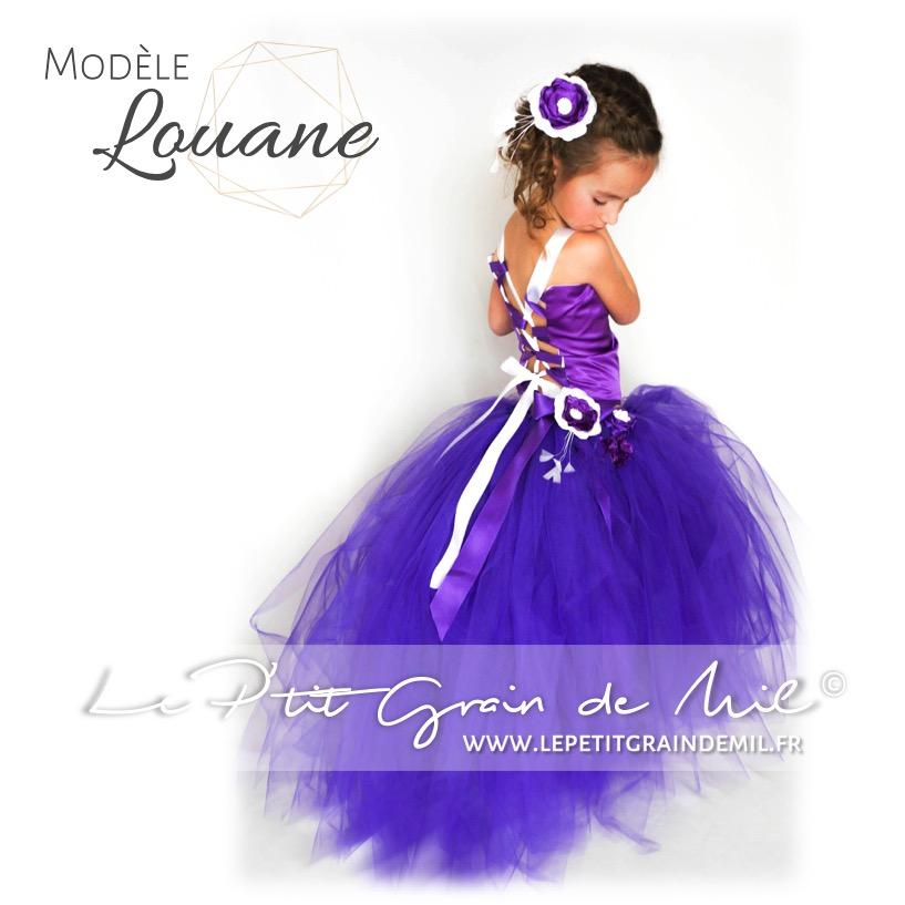 attractive price los angeles cute cheap Ensemble de Cérémonie Fille, Demoiselle d'Honneur Enfant, Traine ● LOUANE