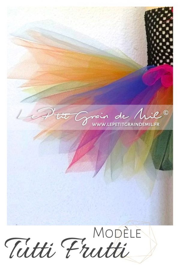 robe tutu bébé fille multicolore arc en ciel rainbow