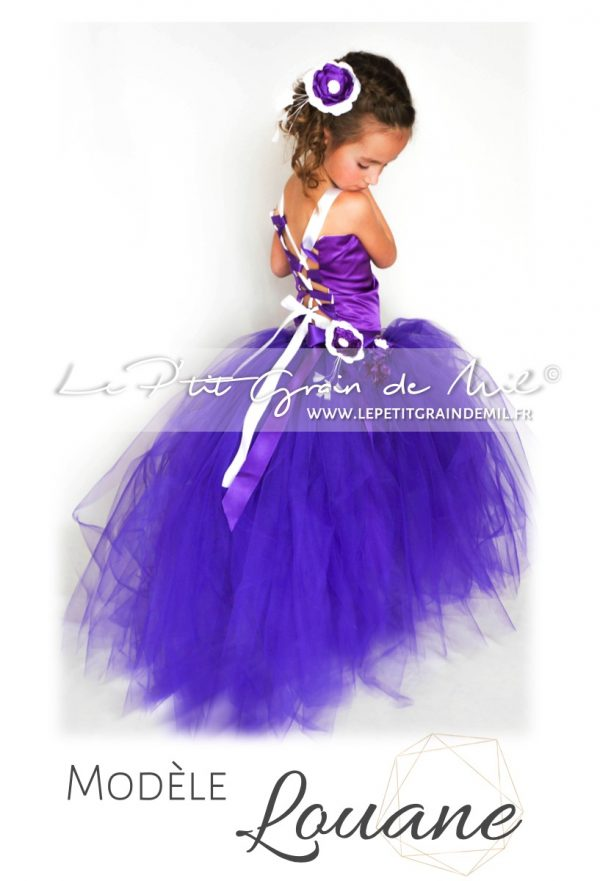 robe tutu bustier tenue de princesse violette
