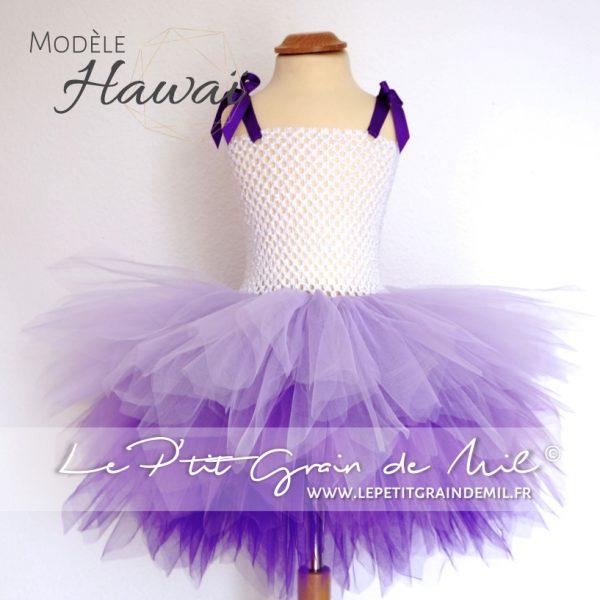 robe tutu cérémonie courte fille camaïeu de violet lavande pourpre mauve tie and dye