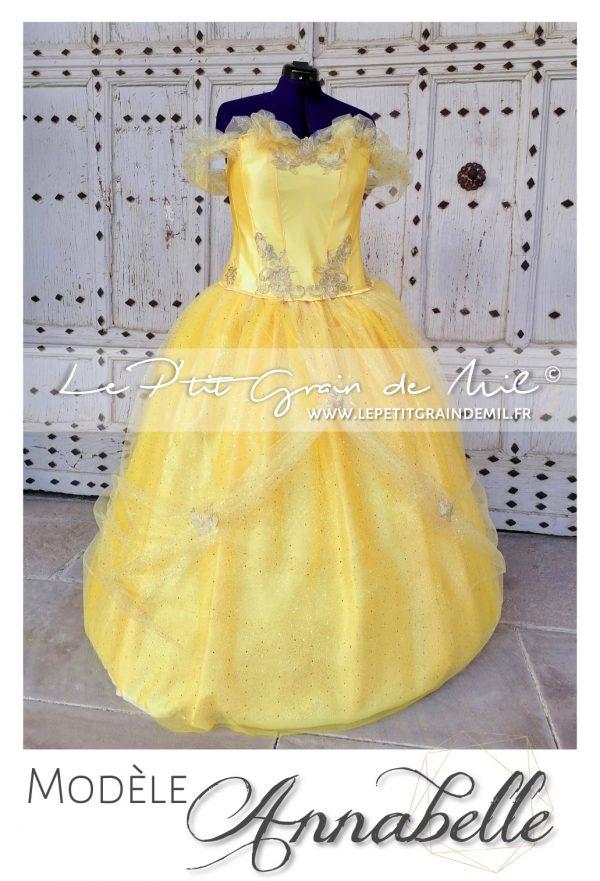 robe tutu de princesse belle déguisement disney la belle et la bete