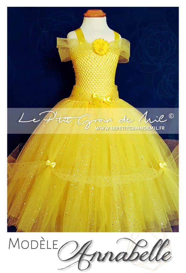 robe tutu de princesse belle déguisement disney robe tutu princesse belle et la bete