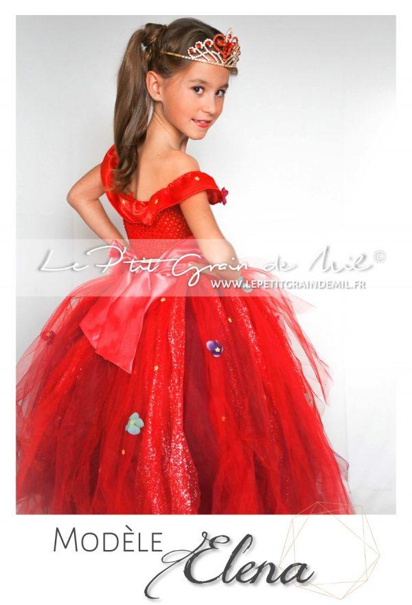 robe tutu de princesse elena of avalor disney avec couronne