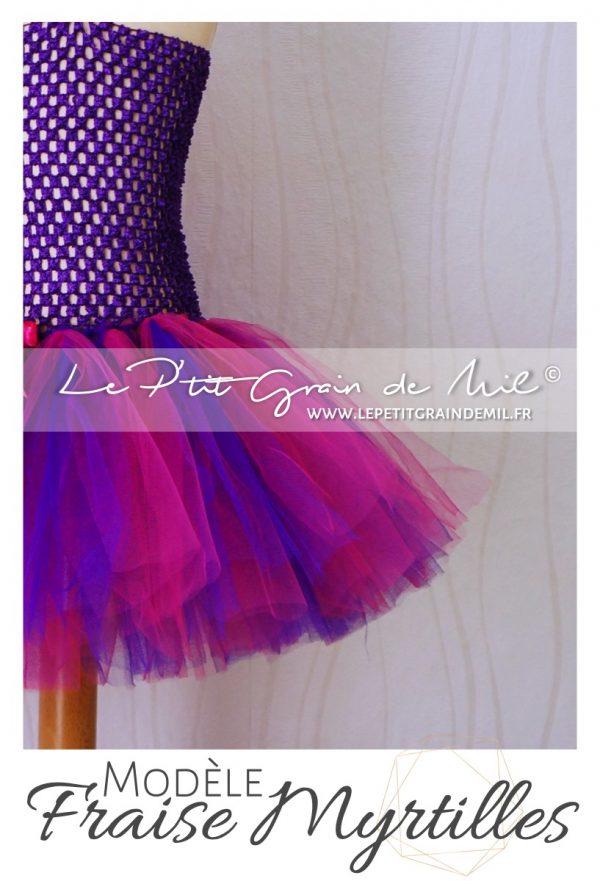 robe tutu en tulle bébé fillette violet pourpre rose fuchsia shooting photo anniversaire smash the cake