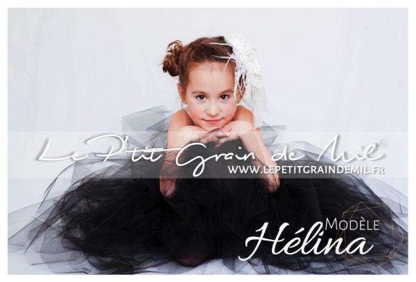 robe tutu noire longue habillée pour bébé fille