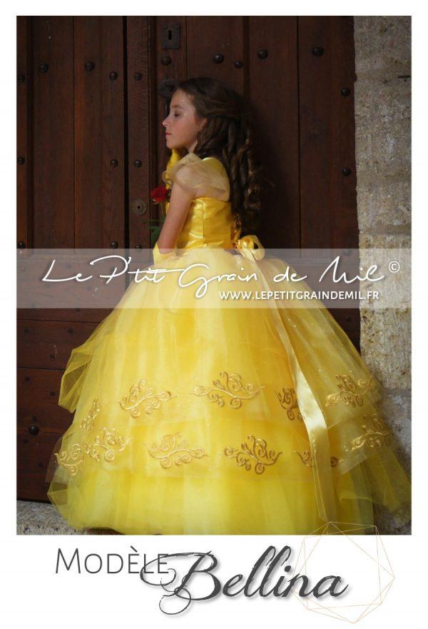 robe tutu princesse jaune déguisement de la belle et la bête enfant femme 2017 film Emma Watson disney