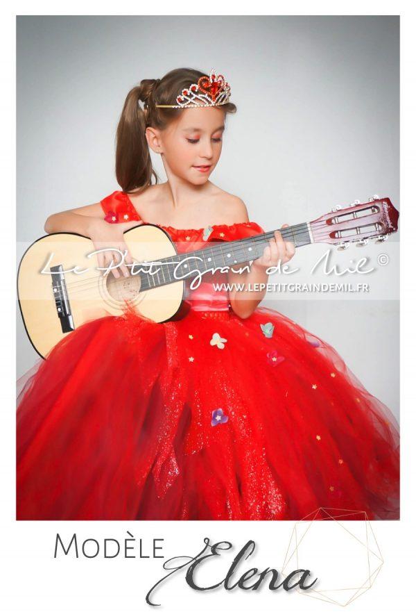 robe tutu rouge de princesse elena of avalor disney