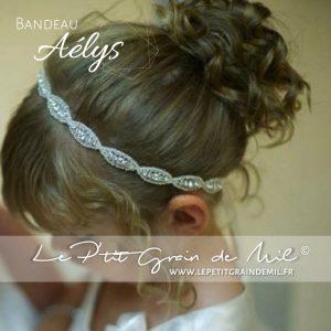 bandeau en strass et crsital pour bébé et petite fille baptême mariage cérémonie