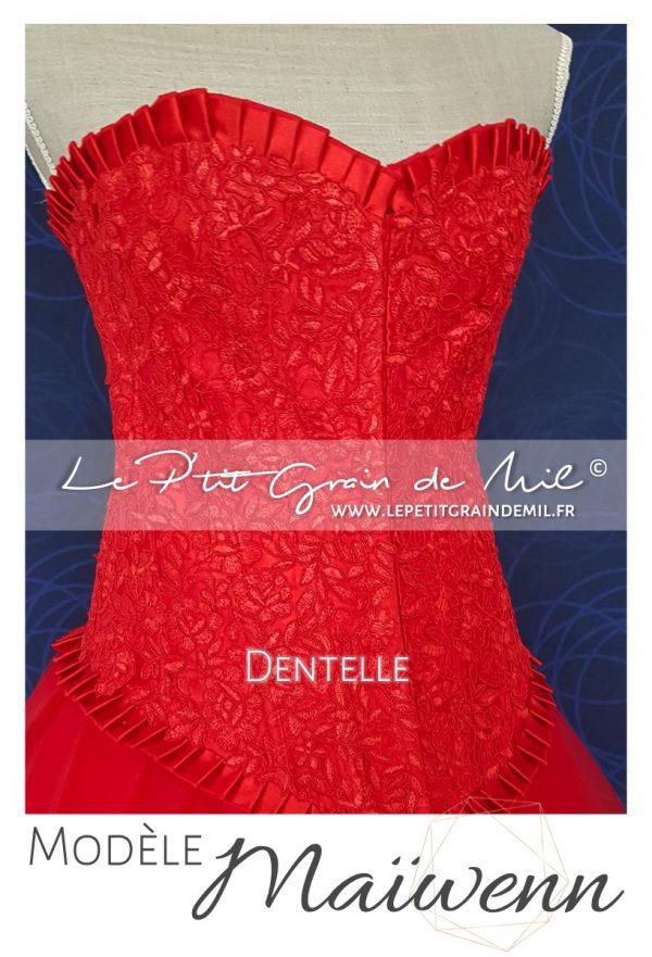 bustier corset femme rouge blanc noir dentelle jupe tutu tulle femme mouchoir de tulle bouffant mariage cérmonie robe de mariée