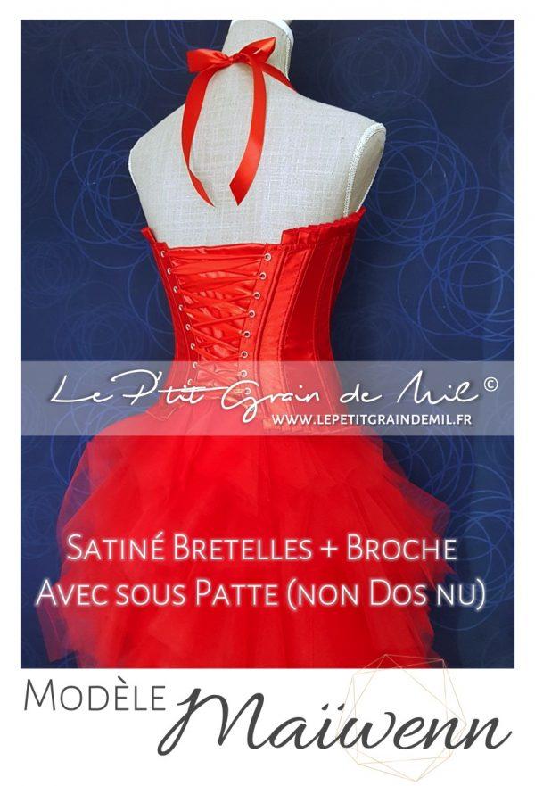 bustier femme rouge satin plumes sequin strass mariage jupe tutu tulle femme mouchoir de tulle bouffant mariage cérmonie robe de mariée