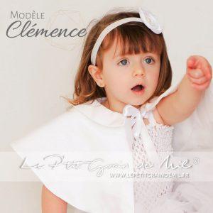cape capeline blanche bapteme bebe fille chaperon