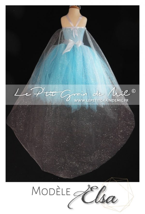 cape elsa deguisement costume reine des neiges flocons princesse disney